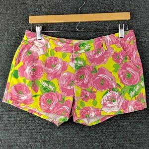 Super Cute BeBop Neon Green & Pink Floral Shorts
